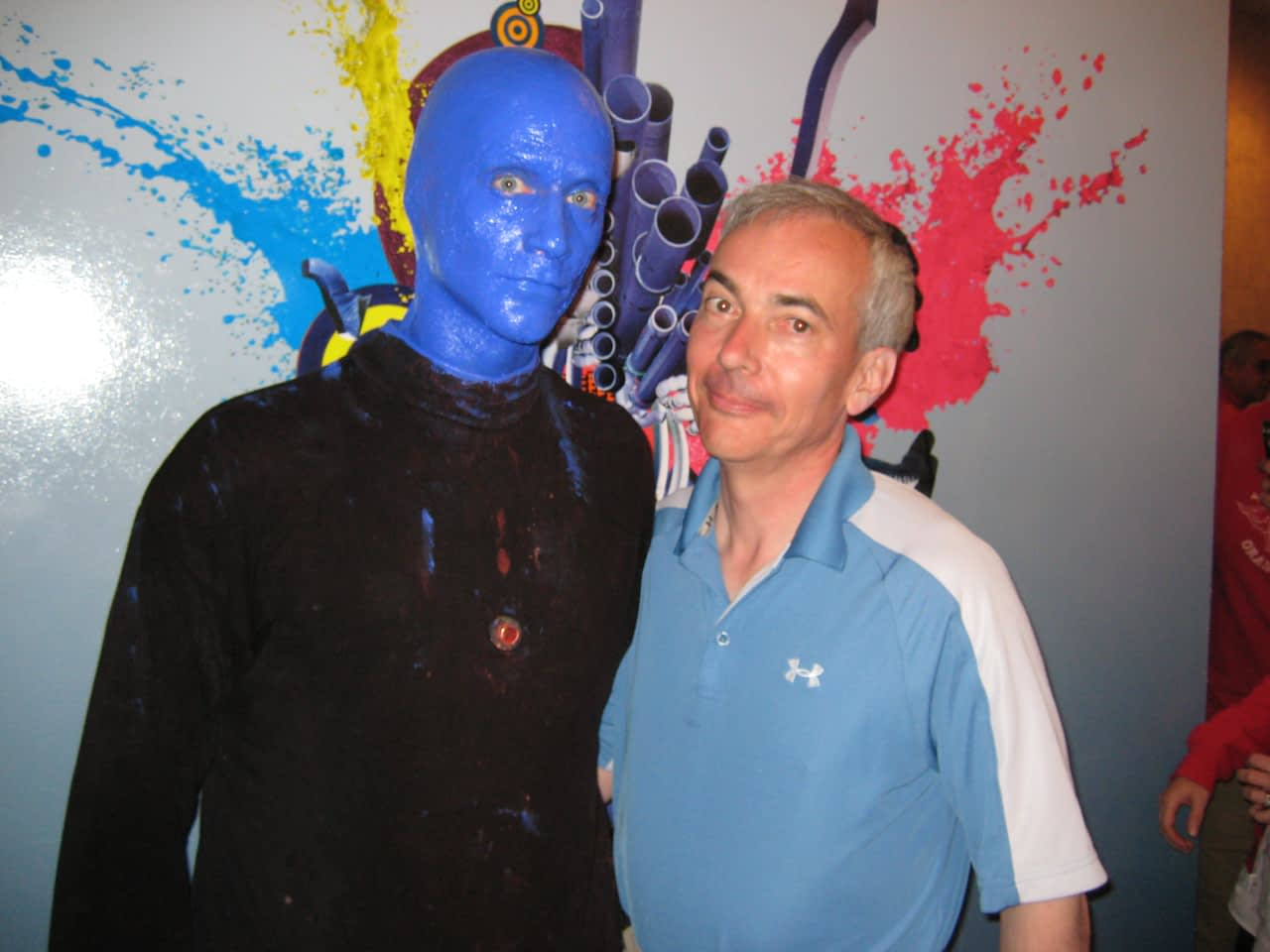 Dr. Warner + Blue Man