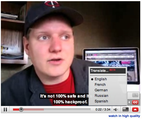 YouTube Translate