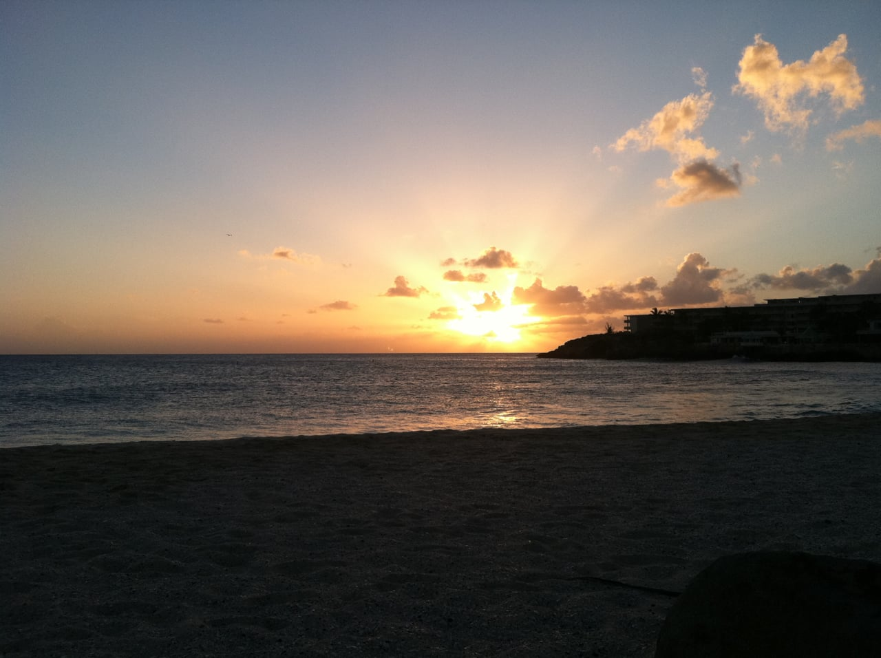 Sunset in Sint Maarten