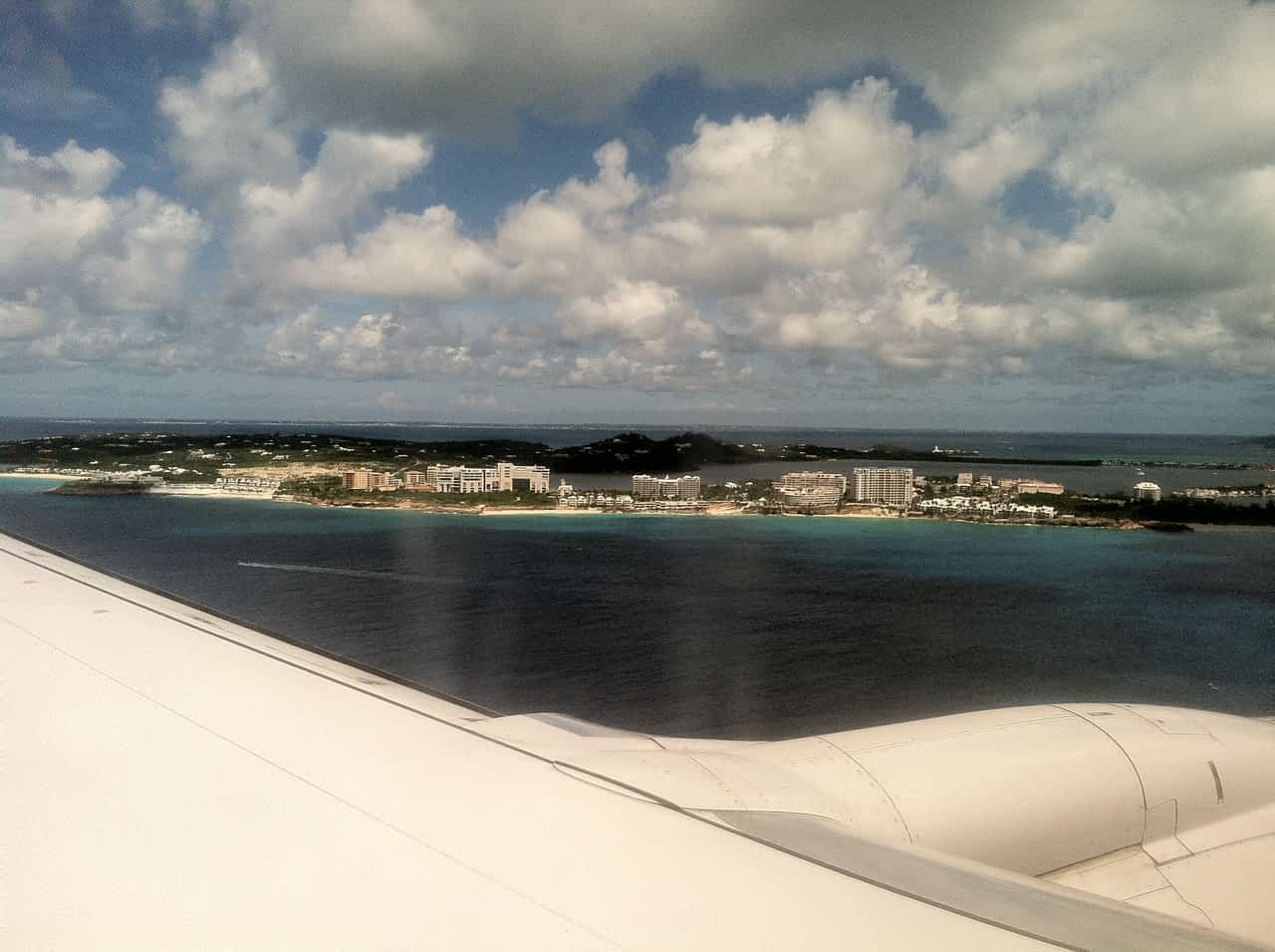 Flying into Sint Maarten